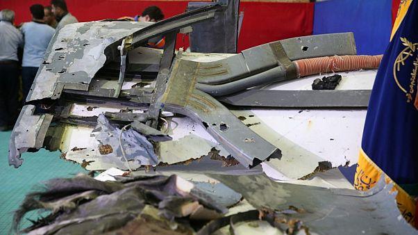 صورة عرضها التلفزيون الإيراني وقال إنها من حطام الطائرة الأمريكية