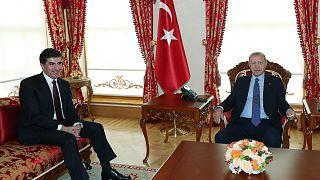 İKBY Başkanı Barzani Erdoğan'ın konuğu oldu