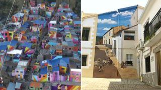 Arte urbano para revitalizar poblaciones en Bolivia y España