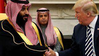 الرئيس الأمريكي دونالد ترامب وولي عهد السعودية الأمير محمد بن سلمان