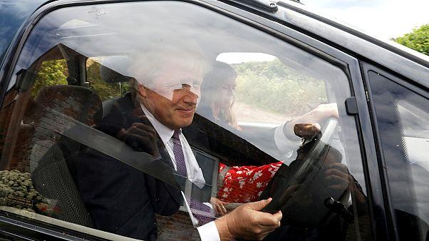 Boris Johnson és Carrie Symonds az európai választások napján, május 27-én