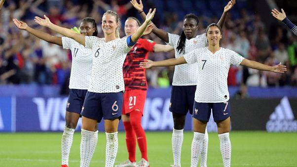 Francia sufre, pero sella su pase a cuartos en el mundial de fútbol femenino