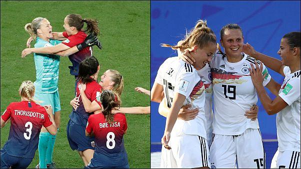 Almanya ve Norveç FIFA Kadınlar Dünya Kupası'nda çeyrek finale yükselen ilk takımlar oldu