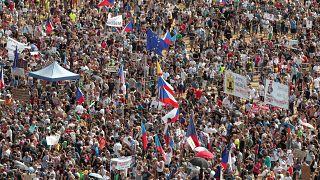 Protest rally demanding resignation of Czech Prime Minister Andrej Babis in Prague