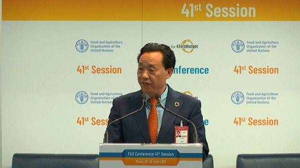 Qu Dongyu eleito diretor-geral da FAO