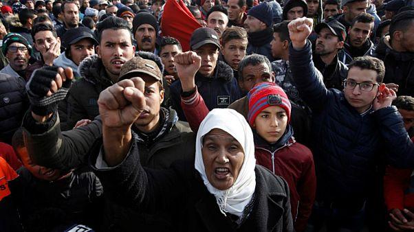 """آلاف المغاربة يتظاهرون ضد """"صفقة القرن"""" ومؤتمر البحرين"""