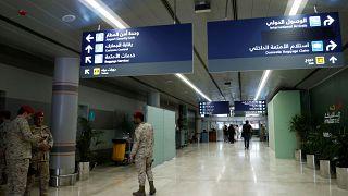 FILE PHOTO: Saudi security officers are seen at Saudi Arabia's Abha airport