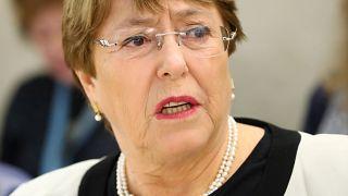 المفوضة العليا للأمم المتحدة لحقوق الإنسان ميشيل باشليه