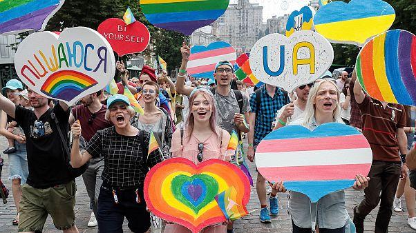 Un momento de la colorida marcha