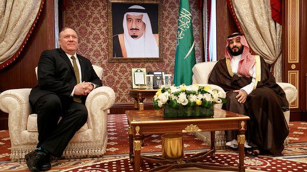 وزير الخارجية الأمريكي مايك بومبيو وولي العهد السعودي محمد بن سلمان