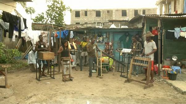 The band aims to raise awareness of DRC's waste problem
