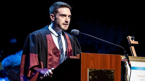 Alex Soros a budapesti CEU diplomaosztóján