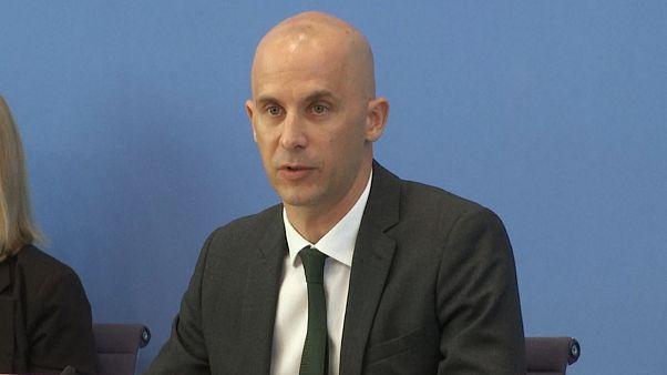 سخنگوی وزارت خارجه آلمان، تصویر از ویدیوی اسوشیتدپرس