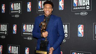 Giannis Antetokounmpo é o jogador mais valioso da NBA