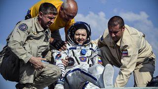 Aterrizaje exitoso de tres trabajadores de la Estación Espacial Internacional