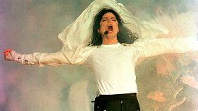 Michael Jackson beim NFL Super Bowl in Pasadena, 1993