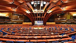Plenary chamber of the Council of Europe's Palace of Europe in Strasbourg