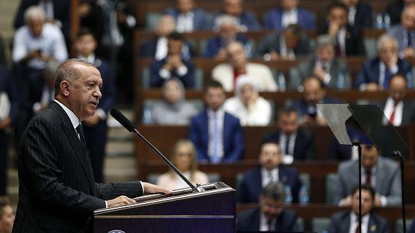Türkiye Cumhurbaşkanı ve AK Parti Genel Başkanı Recep Tayyip Erdoğan, partisinin TBMM'deki grup toplantısına katıldı.