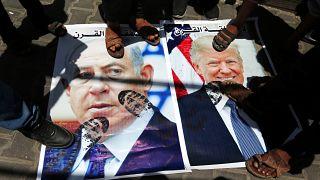 Gazze'de Trump ve İsrail Başbakanı Netanyahu protesto edildi
