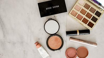 A selection of makeup products