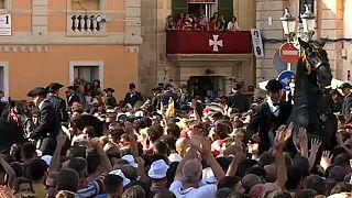 شاهد: مهرجان ركوب الخيل في جزيرة مينوركا الإسبانية