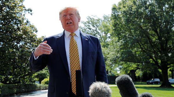 الرئيس الأمريكي دونالد ترامب يتحدث للصحافة في البيت الأبيض، واشنطن
