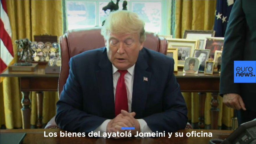 Trump anuncia sanciones contra el ayatolá Jomeini (que murió en 1989)