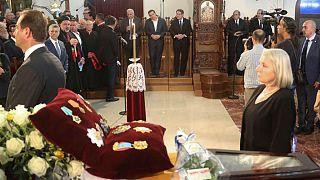 Κηδεύτηκε με τιμές εν ενεργεία Προέδρου ο Δημήτρης Χριστόφιας