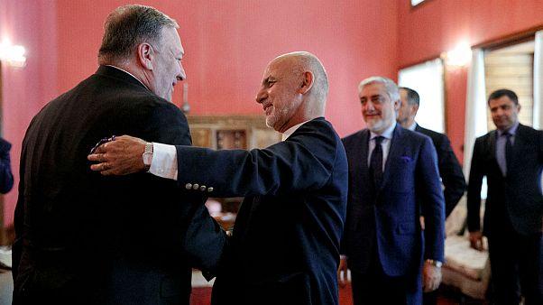 سفر سرزده وزیر خارجه آمریکا به کابل؛ پمپئو: صلح با طالبان نزدیک است