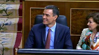 Pedro Sánchez en la inauguración de la nueva cámara tras las elecciones del 26 de abril