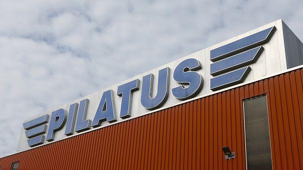 شعار شركة بيلاتوس لصناعة الطائرات - رويترز