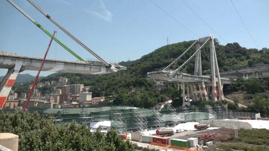 Genova: elkészült az új híd első pillére