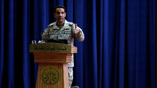 العقيد الركن تركي المالكي، المتحدث باسم التحالف العسكري الذي تقوده السعودية للقتال في اليمن