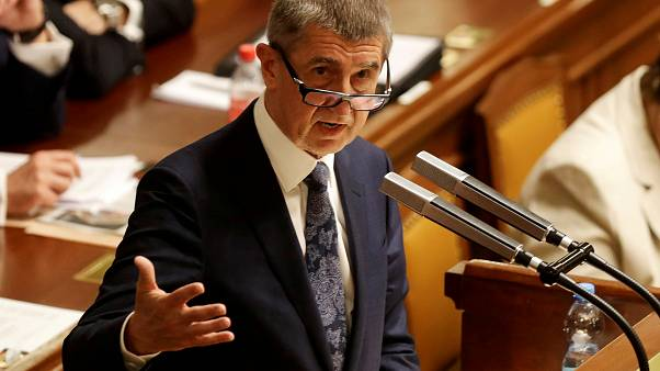 FILE PHOTO: Czech Prime Minister Andrej Babis attends a parliamentary session