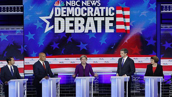 Πρώτο ντιμπέιτ μεταξύ των υποψηφίων του Δημοκρατικού Κόμματος