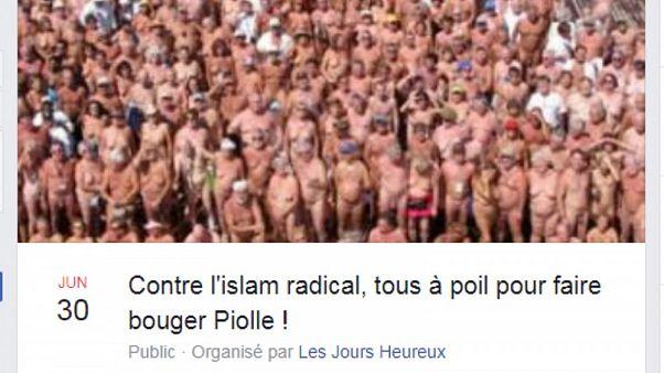 کارزار شنای تمام برهنه در واکنش به کارزار شنا با بورکینی در فرانسه