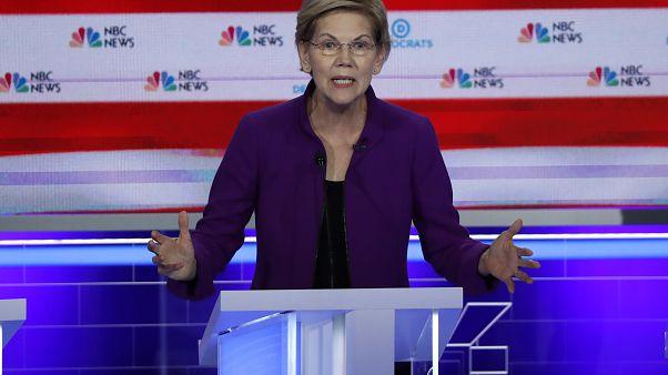 Elizabeth Warren is standout candidate in first TV debate for Democrat nomination