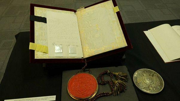 شاهد: عرض معاهدات سلام الحرب العالمية الأولى في لندن