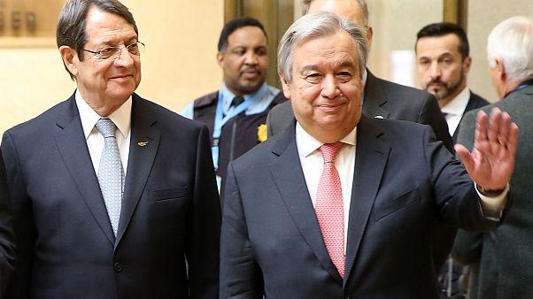 Ο Γενικός Γραμματέας του ΟΗΕ Αντόνιο Γκουτέρες και ο  Πρόεδρος της Κυπριακής Δημοκρατίας Νίκος Αναστασιάδης