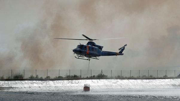 Incêndio na Catalunha enfrenta pior dia de calor
