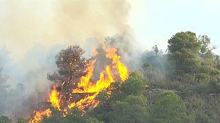 Catalunha a braços com um enorme incêndio florestal