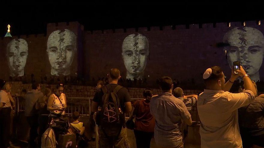 ویدئو؛ جشنواره نور و هنر در بخش باستانی بیتالمقدس (اورشلیم)