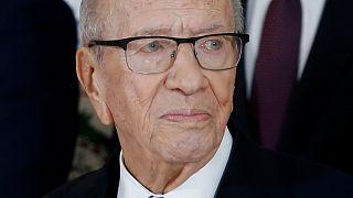 El presidente de Túnez Beji Caid Essebsi, de 93 años, trasladado de urgencia al hospital