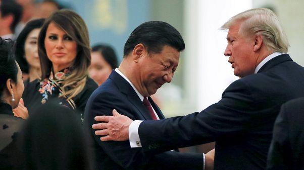 الرئيسان الصيني والأميركي في بكين في العام 2017 - أرشيف