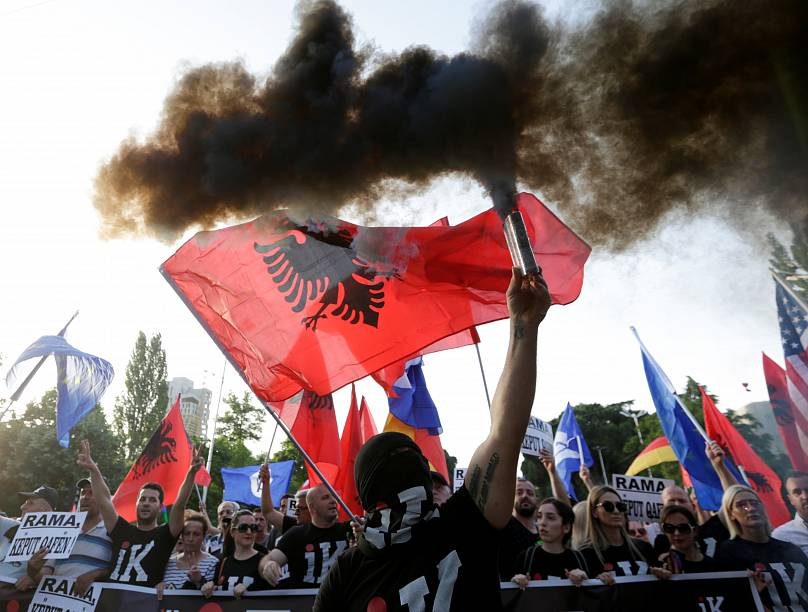 Tirana, Albania, June 8, 2019. REUTERS/Florion Goga