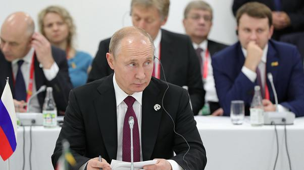 Vladimir Poutine à Osaka, au Japon