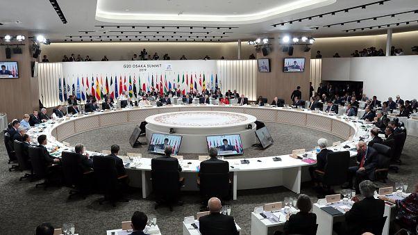 Japonya'nın ev sahipliğinde Osaka'da iki gün sürecek G20 Liderler Zirvesi başladı
