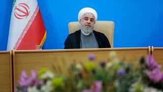 Iranian President Hassan Rouhani in Tehran, Iran, on June 25, 2019.
