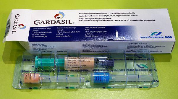 Gardasil anti-cervical cancer vaccine box