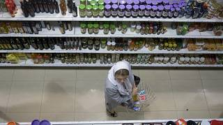 File photo of an Iranian supermarket